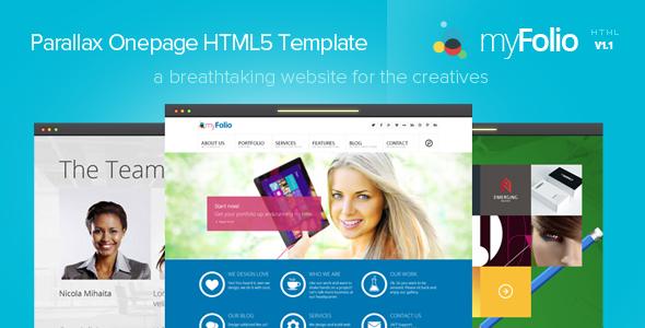 myFolio - Parallax Onepage HTML5 Template