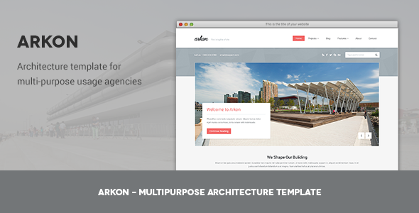 Arkon - Multipurpose .PSD Architecture Template