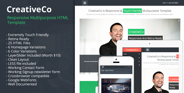 CreativeCo - Responsive MultiPurpose HTML Template