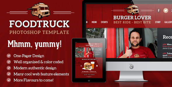 Food Truck Photoshop Template 2 Styles