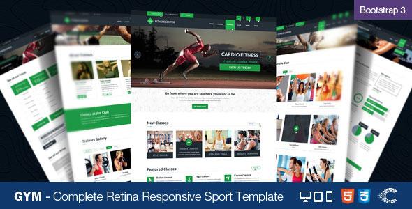 GYM - Sport Retina Responsive Sport Template