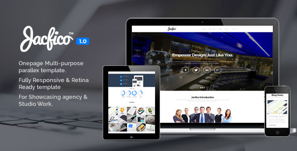 Jacfico - Responsive Onepage Template