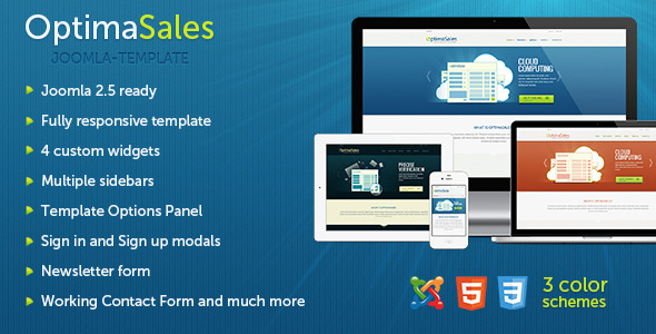 OptimaSales - Responsive Joomla Template