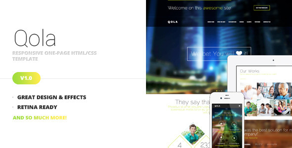 Qola - Responsive One Page Template