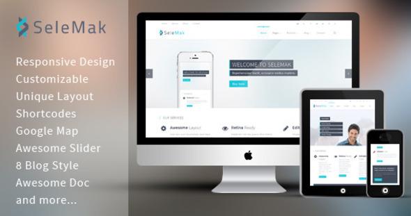 SeleMak - Responsive HTML5 Template