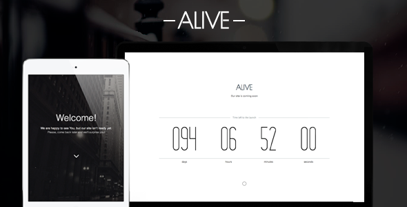 Alive - Coming Soon Page SiteTemplates