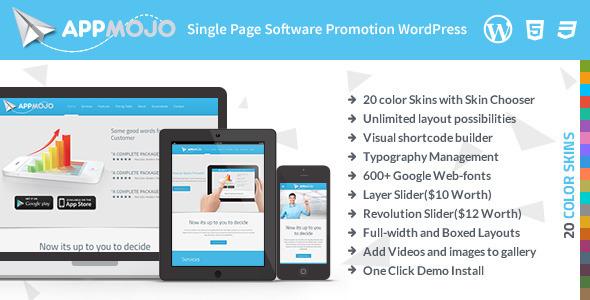 App Mojo - Single Page Software Promotion Theme