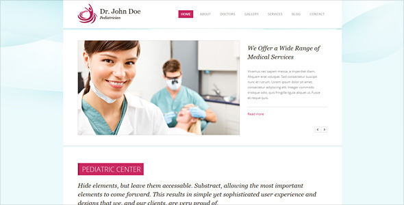 Dr. Doe – Responsive Retina-Ready HTML5 One-Page