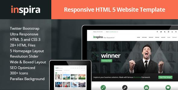 Inspira - Responsive HTML 5 Website Template