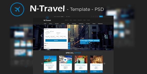 N-Travel - Psd Template PSDTemplates
