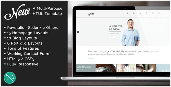 New - Multipurpose Responsive HTML5 Template