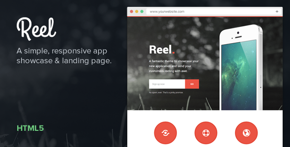 Reel — Simple, Responsive App Showcase