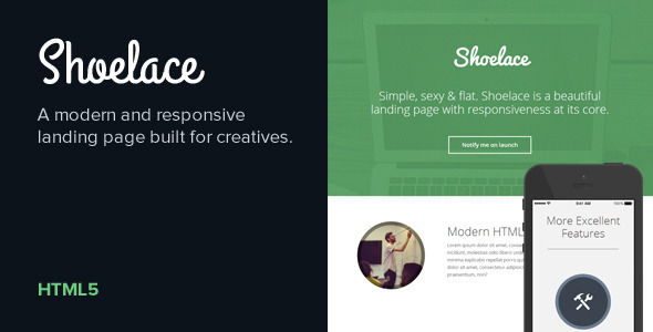 Shoelace - Modern, Responsive Landing Page
