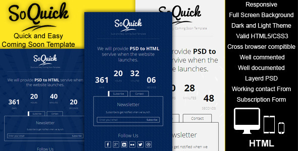 SoQuick - Quick and Easy Coming Soon Template