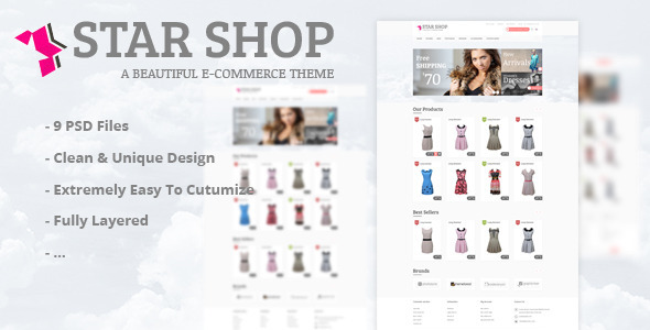 Star Shop - PSD Template PSDTemplates
