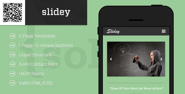 slidey   Mobile HTML/CSS Portfolio Template