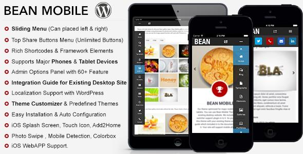 Bean Premium Mobile Theme WordPress