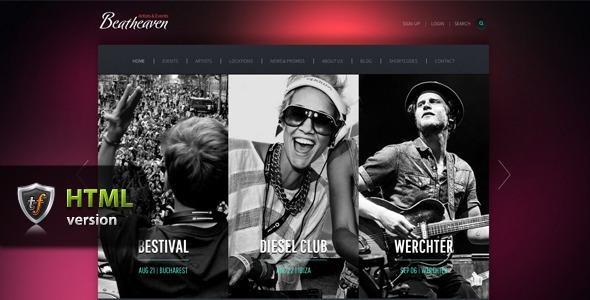 Beatheaven - Music HTML Theme SiteTemplates