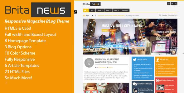 BritaNews -  Animated HTML5 & CSS3 News/Magazine  TForest