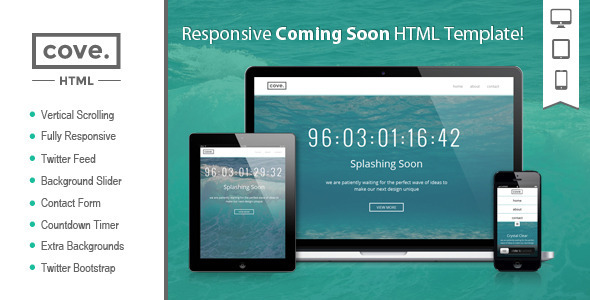 Cove - Responsive Coming Soon HTML Template   TForest