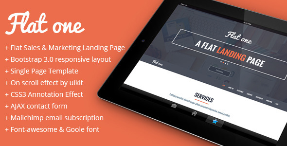 Flatone Sales and Marketing Landing Page  TForest