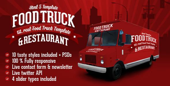 Food Truck & Restaurant 10 Styles - HTML5 Template  TForest