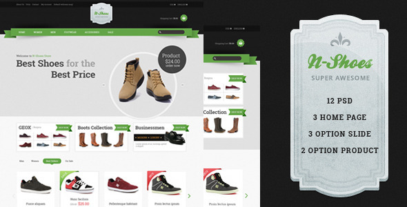 N-Shoes PSD  TForest PSDTemplates