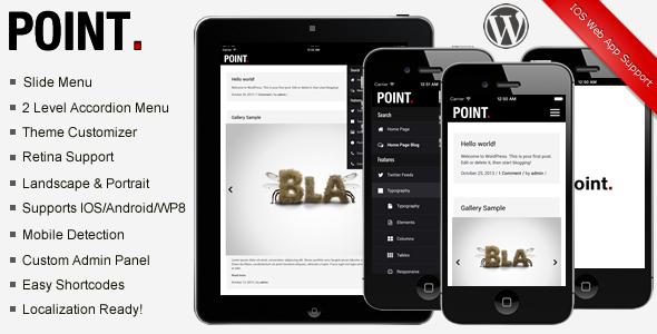 Point Mobile Theme  TForest WordPress