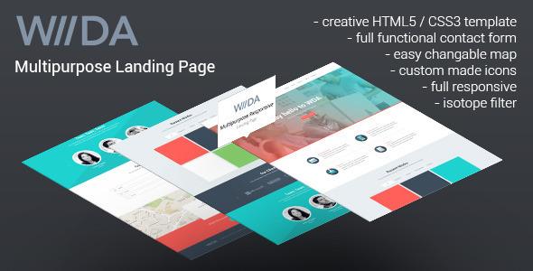 WDA - Creative Responsive Landing Page  TForest
