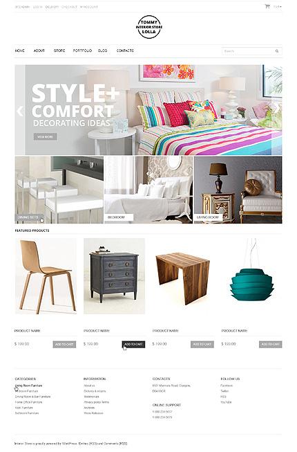 White Interior Design Jigoshop Theme by Irene Jigoshop Themes TMT
