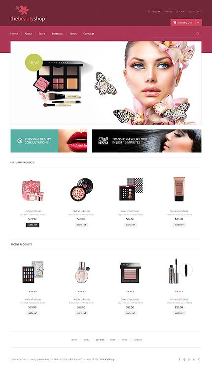 White Jigoshop Cosmetics Store Template by Delta Jigoshop Themes TMT