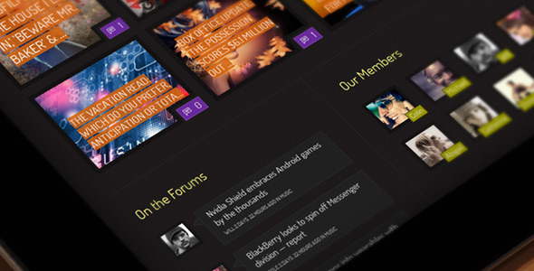 Xphoria - BuddyPress Theme WordPress