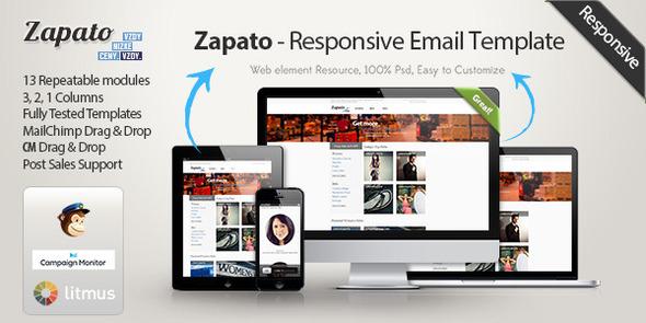 Zapato - Responsive eCommerce Email Template