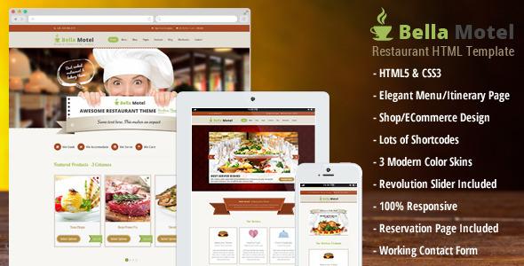 Bella Motel - Restaurant & Bakery HTML  TForest