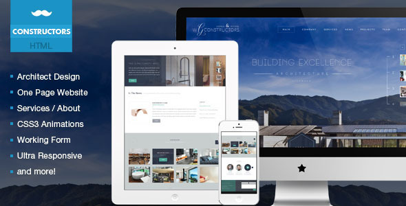 Constructors - Architects & Engineers HTML Theme  TForest