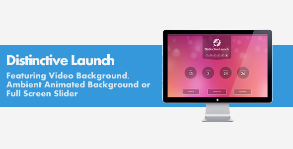 Distinctive Launch - 3 in 1 Coming Soon Template  TForest