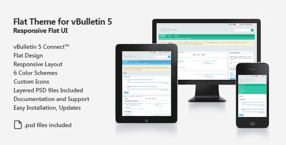 Flat Theme for vBulletin 5 Connect  TForest