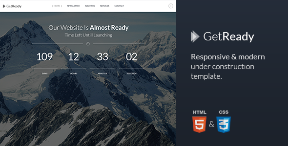 GetReady - Responsive Under Construction Template  TForest