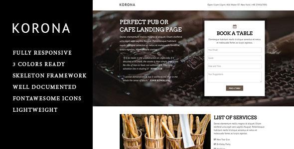 Korona - Responsive Landing Page  TForest