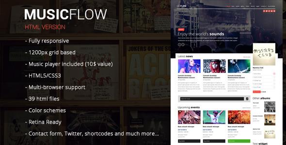 MUSICFLOW - complete entertainment template  TForest