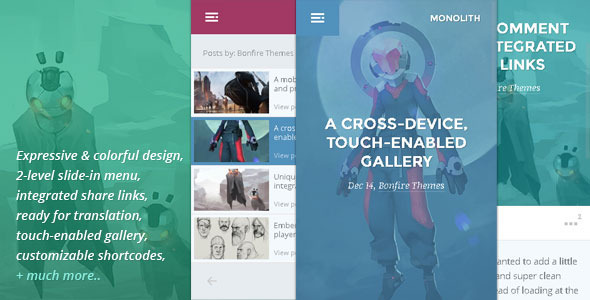 Monolith - WP theme for bloggers and professionals  TForest