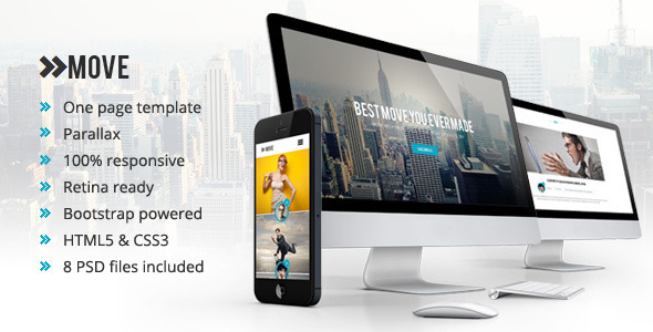 Move - Responsive One Page Parallax Template  TForest
