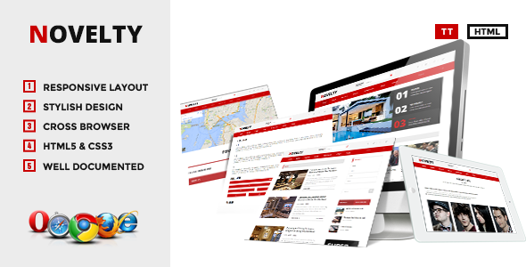 Novelty - Content Sharing HTML Theme  TForest