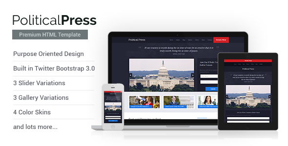 Political Press - HTML Template  TForest