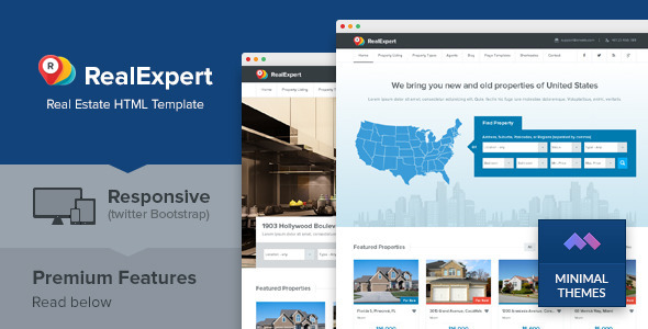 Real Expert - Responsive Real Estate HTML Template  TForest