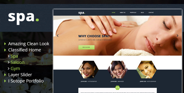 SPA - Saloon and GYM HTML Template  TForest