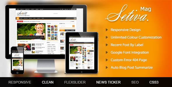 Setiva Responsive Blogger Template  TForest