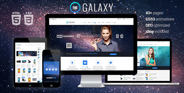 The Galaxy - Responsive Multipurpose Template  TForest