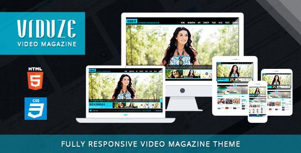 Viduze - Video Magazine HTML Template  TForest