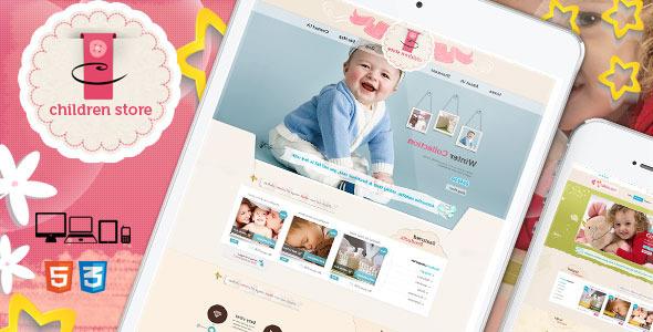 Children Store Responsive Ecommerce HTML5 Theme  TForest